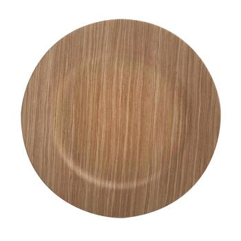 The Grainhouse™ Wood-Look Charger Plates, Set of 4