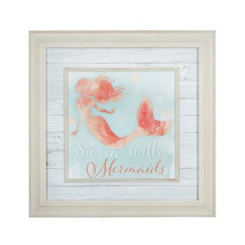 "18"" ""Swim with Mermaids"" Wall Decor"