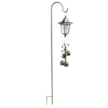 Shepherd's Stake with Wind Chime Solar Lantern