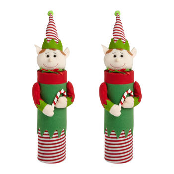 2ct Tube Elf/candy Cane view 1