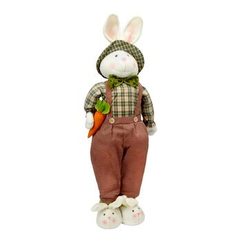 "29"" Green Telescoping Bunny with Carrot Decor"