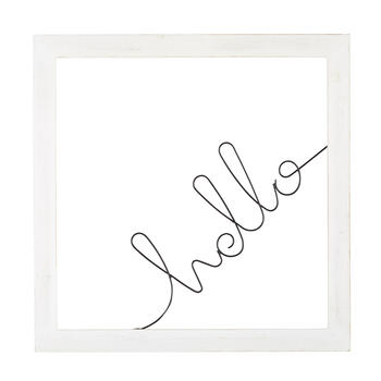"The Grainhouse™ 22"" ""Hello"" Framed Wall Decor view 1"