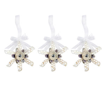Starfish Shell Cluster Ornaments, Set of 3 view 1