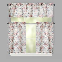 Pink Charlie Window Tier & Valance Set