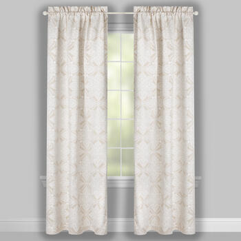 "84"" Legend Medallion Rod Pocket Window Curtains, Set of 2 view 2"