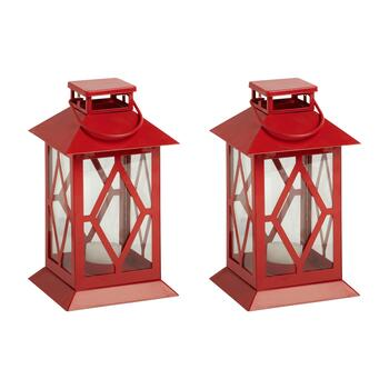 "8.5"" Metal Diamond Citronella Votive Lantern"