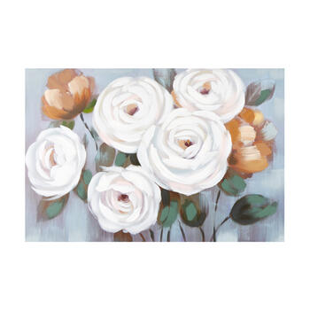 "24""x36"" White/Pink Florals Canvas Wall Art view 1"