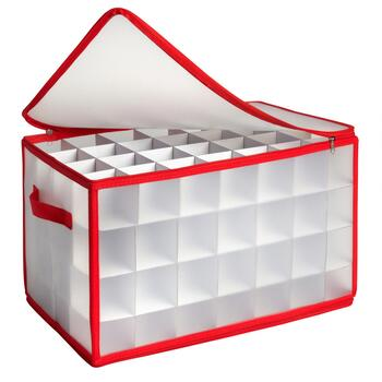 112-Ornament Storage Box with Handles