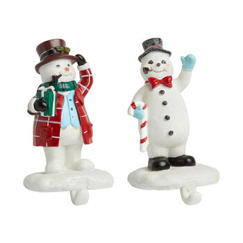 Pipe Snowman Stocking Holder Set view 1