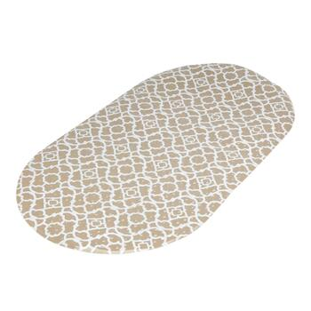 Waverly® Sand Lattice Oval Bath Mat