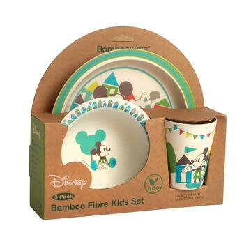 Disney® Mickey Mouse Bamboo Children's Dinnerware Set, 3-Piece
