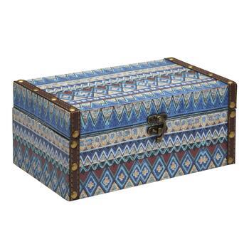Blue Aztec Large Decorative Box