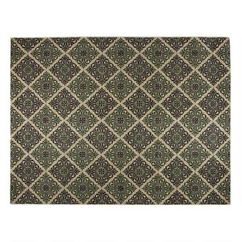 "Mohawk Home 7'5"" x 10' Black/Green Tile Area Rug"