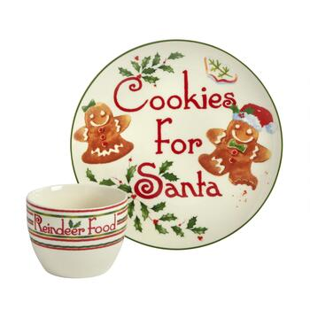 "Famous Maker ""Cookies for Santa"" Set, 2-Piece"