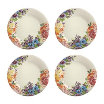 "Country Roads by Laurie Gates 10"" Floral Dinner Plates, Set of 4"