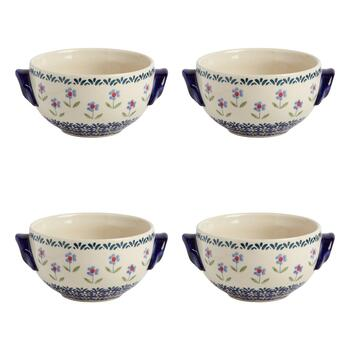 Flower Garden Soup Bowls, Set of 4