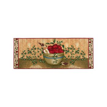 2' x 5' Bowl of Apples Tapestry Runner Rug