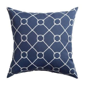 Nautical Knots Indoor/Outdoor Square Throw Pillow