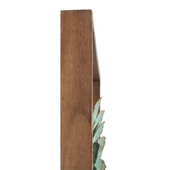 "18"" Sea Green Succulent Plant Wood/Metal Framed Wall Decor view 2"