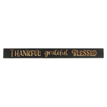 "Sign Wd Bless 36"" Gy/cr view 1"