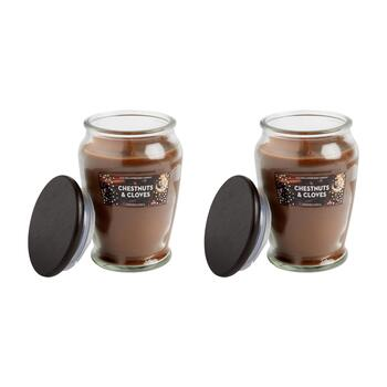 15-oz. Woodwick Chestnuts & Cloves Candle Jars, Set of 2