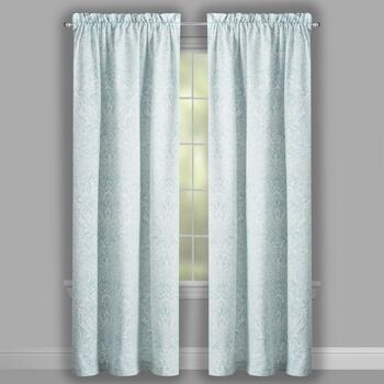 "84"" Gray Brynn Paisley Window Curtains, Set of 2 view 2"