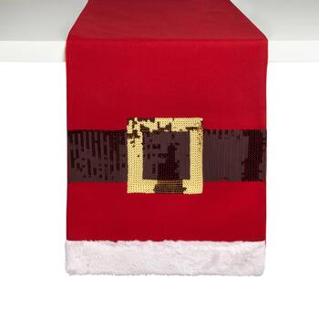 Sequin Santa Belt Table Runner