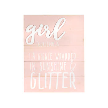 "16""x20"" ""Girl"" Definition Wood Plank Wall Decor view 1"