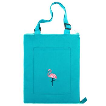 "50""x60"" Pink Flamingo Indoor/Outdoor Convertible Beach Blanket Tote"