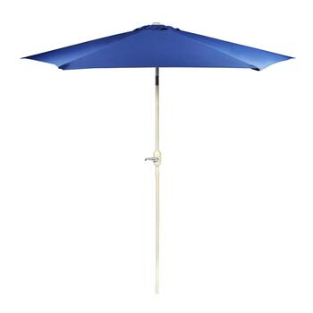9' Royal Blue Crank/Tilt Market Umbrella