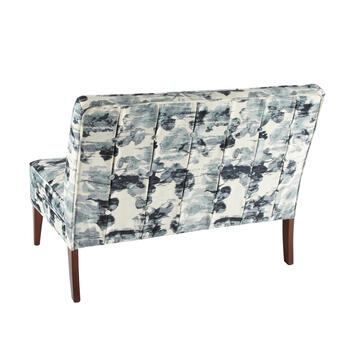 Tufted Settee with Print Upholstery view 2