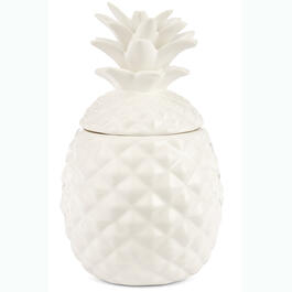 White Pineapple Cookie Jar view 1