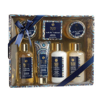 Vanilla Shea Scented Bath Gift Set, 7-Piece view 1