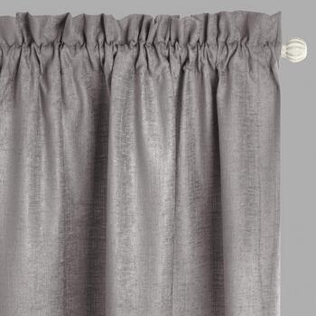 The Grainhouse™ Chenille Window Curtains, Set of 2