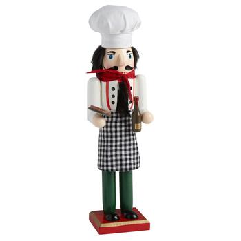 "15"" Italian Chef with Pizza Nutcracker"