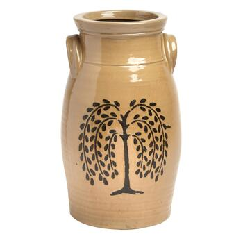 "13"" Weeping Willow Jug Vase"