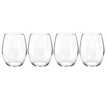 Arc Basic Stemless White Wine Glasses, Set of 4