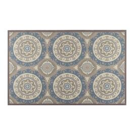 "Waverly® 4'4""x6'11"" Gray Medallion Indoor/Outdoor Area Rug"