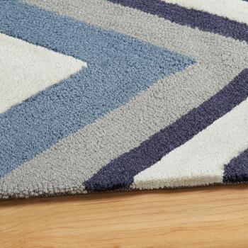 Blue/White Chevron Area Rug view 2
