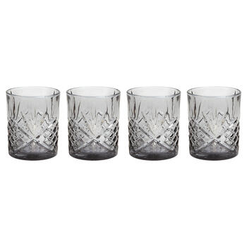Dublin Cut Smoke Double Old-Fashioned Glasses, Set of 4 view 1