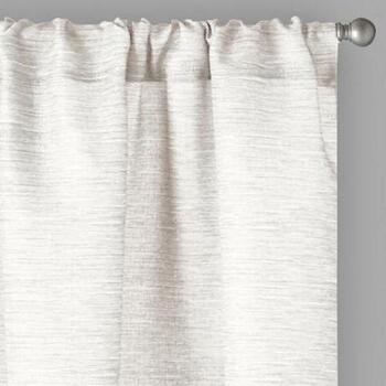 "84"" Bombay™ Textured Rod Pocket Window Curtains, Set of 2"