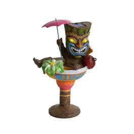 "10.5"" ""Welcome"" Cocktail Solar Tiki Statue"