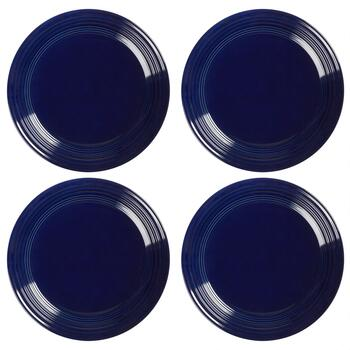 Bistro Basics Solid Cobalt Dinner Plates, Set of 4