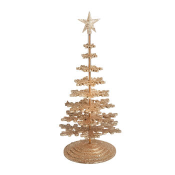 Gold Glitter Snowflake Tree Decor view 1