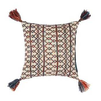 "The Grainhouse™ 18"" Tribal Geo Tassel Square Throw Pillow"