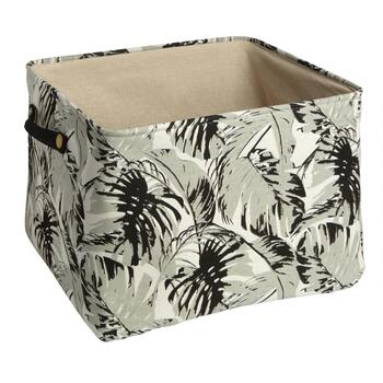 Coastal Living Seascapes™ Gray Palm Leaves Storage Tote