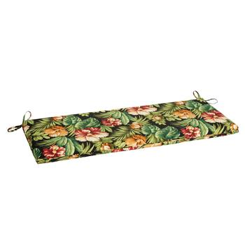 Tropical Flowers Indoor/Outdoor Bench Seat Pad