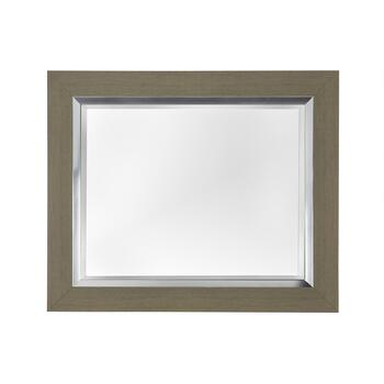 "30""x36"" Gray/Silver Eve Framed Wall Mirror"