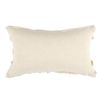 Cream Boho Chic Fringe Throw Pillow view 2