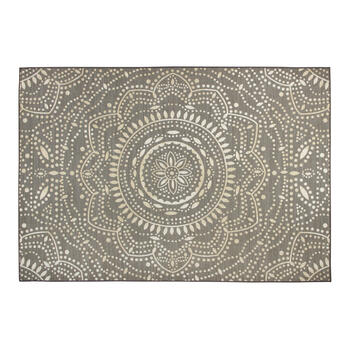 7'x10' Gray Medallion Printed Area Rug view 1